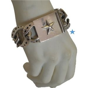 King Baby Studio Large Star Sterling Silver Link B